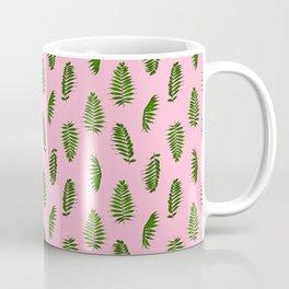 Fern pattern pink Coffee Mug