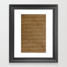 Striped Burlap Framed Art Print