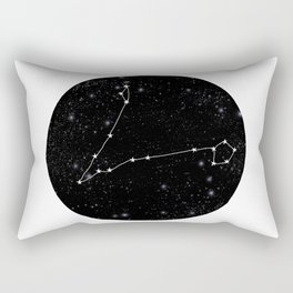 Pisces zodiac star sign constellation art black and white Rectangular Pillow