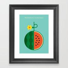 Fruit: Watermelon Framed Art Print
