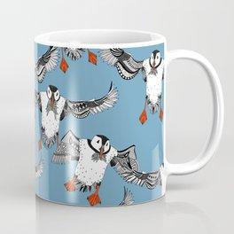Atlantic Puffins blue Coffee Mug