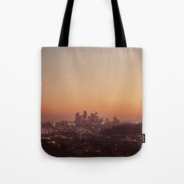 Los Angeles City Sunset Tote Bag