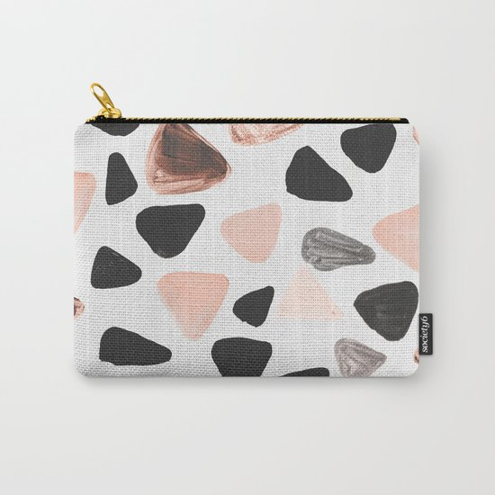 Rounded Triangles Carry-All Pouch