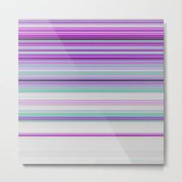 Ultra Violet Aqua Modern Stripes Metal Print