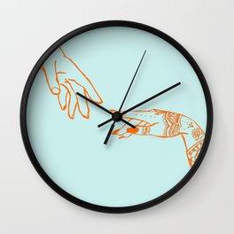 Henna hands Wall Clock