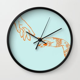 Henna hands Wall Clock
