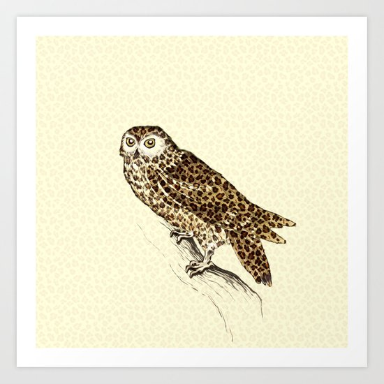 The Jaguar Owl Art Print