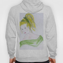 Girl in Green Hoody