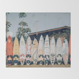 lets surf xv Throw Blanket