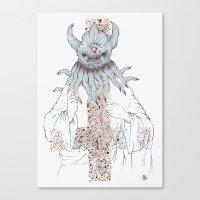 cthulu Canvas Prints featuring Cthulu Invades Spirituality Part 1 by radixrising