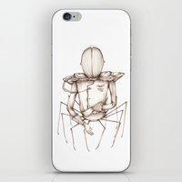 spider iPhone & iPod Skins featuring Spider by pimlada - drawings