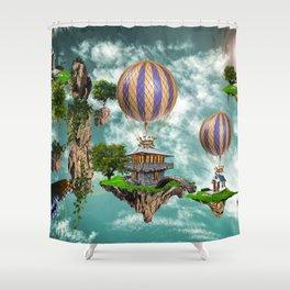 Balloon House Shower Curtain