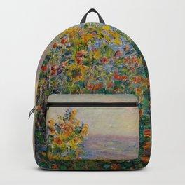"Claude Monet ""Flower Beds at Vétheuil"" Backpack"