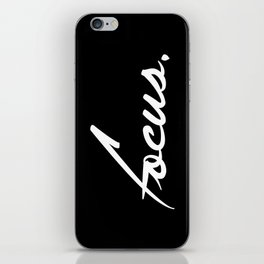 Focus - version 2 - white iPhone Skin