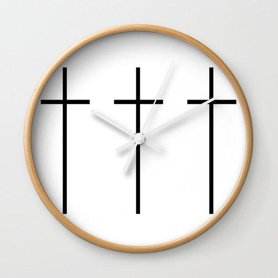 CROSSES (WHITE) Wall Clock