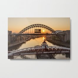Tyne Bridge Sunrise Metal Print