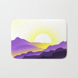 Nonbinary Pride Sunrise Landscape Bath Mat