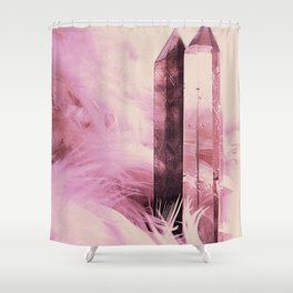 Quartz Points Shower Curtain