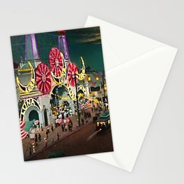Luna Park Coney Island Amusement Park, New York, New York Portrait Stationery Cards
