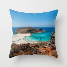Balos Beach Throw Pillow