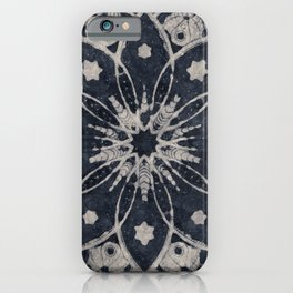 Mandala, Flower, Indigo Blue, Boho Art iPhone Case