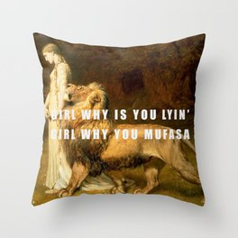 Lyin' in 3005 Throw Pillow