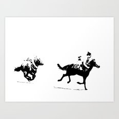 Sumos at the Races Art Print