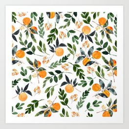 Orange Grove Art Print