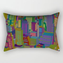 Cityscape night Rectangular Pillow