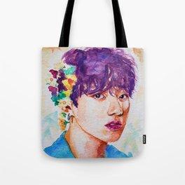 Jungkook et les fleurs Tote Bag