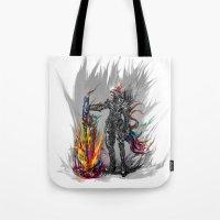 viking Tote Bags featuring viking by ururuty