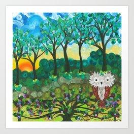 Owl Artwork By MiMi Stirn - Owl Expressions #364 Art Print