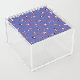 Yoga Girls blue lines Acrylic Box