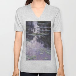 Water Lilies by Claude Monet Unisex V-Neck