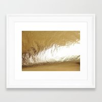 gold foil Framed Art Prints featuring Gold Foil by The Wellington Boot