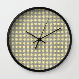 Yellow star pattern Wall Clock