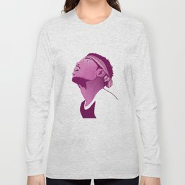 Chance The Rapper; Pink Long Sleeve T-shirt