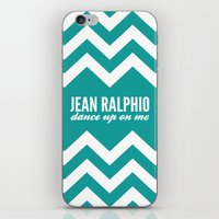 parks and recreation iPhone & iPod Skins featuring Jean Ralphio - Parks and Recreation by Sandra Amstutz