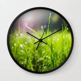 Dew drops in the morning Wall Clock