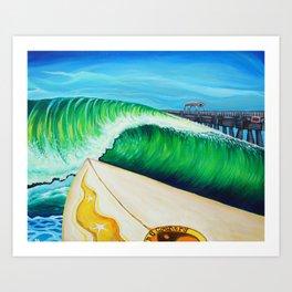 Lake Worth Swell Art Print