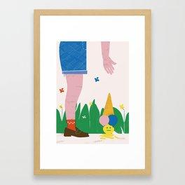 SUMMERTIME BLUES Framed Art Print