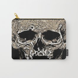 Full Skull With Rotting Flesh Vector Carry-All Pouch