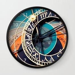 Ancient Medieval Astrological Clock Czech Wall Clock
