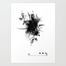 Thoughts from above Art Print