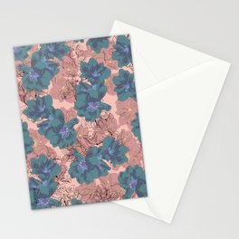 Faded Hibiscus Pink Stationery Cards