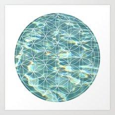 Abstract Pool Art Print
