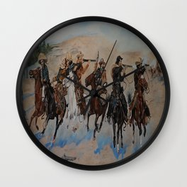 """A Tribute to Frederic Remington, """"Dash for the Timber"""" Wall Clock"""
