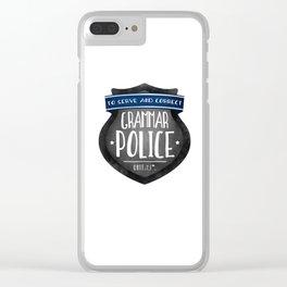 Grammar Police Clear iPhone Case