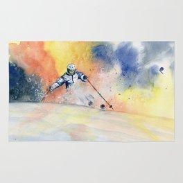 Colorful Skiing Art 2 Rug