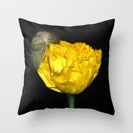 Birth of a Poppy Throw Pillow